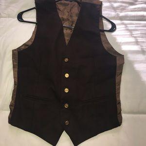 YSL vintage vest Fudge Chocolate/Carmel brown